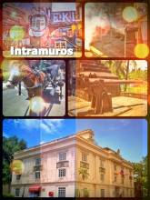 Intramuros - historic old town of Manila, surrounded by think city walls