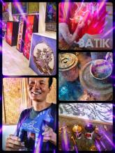 Batik Artwork - learning how to dye like the Egyptians, Chinese and now Indonesians