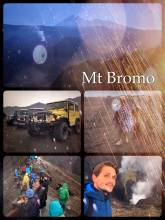 Mt Bromo - climbing up one of the active and smoking volcanoes in Indonesia