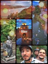 Hue - arriving in Vietnam's old capital, pretty much in the middle of the country