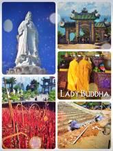 Lady Buddha - climbing up to Vietnam's largest buddha statue near Da Nang