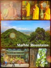 Marble Mountains - climbing one of the 5 limestone hills in between Hoi An and Da Nang
