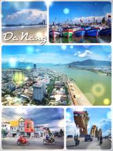 Da Nang - cruising on a moped through the streets of a modern port city