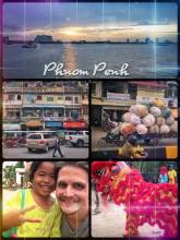 Phnom Penh - exploring the capital of Cambodia and Mekong River on a local bike taxi