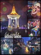 Phnom Penh by night - sightseeing by night after eating fried frogs and balut (chicken fetus)