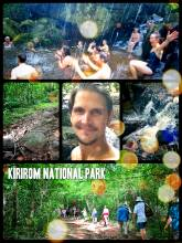 Kirirom National Park - enjoying the fresh air and cold waterfall after a short forest hike