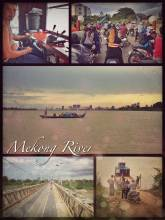 Mekong River - crossing this mighty Asian river on a small local ferry twice