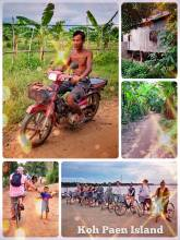 Koh Paen Island - cycling along the Mekong River and through local villages