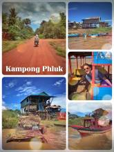 Kampong Phluk - a village living on stilts to protect against floods next to Tonle Sap