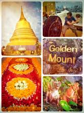 Golden Mount - climbing the highest point of Bangkok within the Wat Saket temple