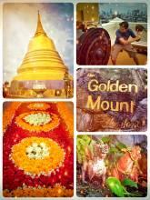 Golden Mount - climbing the highest point of Bangkok within the Wat Saket temple