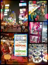Patpong Nightmarket - walking through a packed alley full of tourists and street vendors