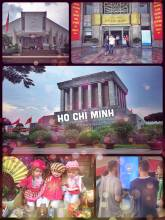 Ho Chi Minh Mausoleum - passing by the resting place of the former leader without entering