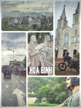 Hoa Binh - quick stop on the ride from Hanoi to Laos through heavy rainfalls