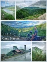 Xiang Ngeun - enjoying the last few miles on the road before Luang Prabang