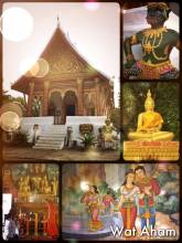 Wat Aham - a temple and two stupas to protect the city of Luang Prabang