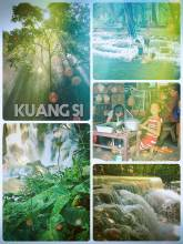 Kuang Si Waterfall - swimming in one of the most beautiful waterfalls of Laos