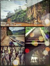 Pak Ou Caves - two caves above the Mekong with thousands of Buddha statues