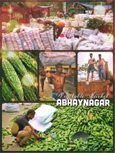 Abhaynagar - stopping at a rural vegetable market on the road to Khulna