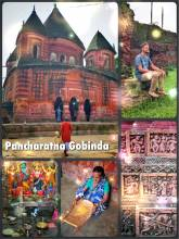 Pancharatna Gobinda - the raspberry-like Hindu temple dedicated to Lord Krishna