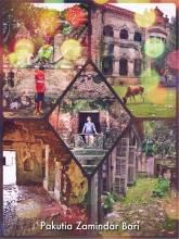 Pakutia Zamindar Bari - completely run down and abandoned mansion in a rural village