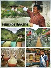 Tachog Lhakhang Bridge - impressive 14th century iron bridge over the mighty Paro river