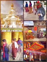 Jigme Dorji Wangchuck Memorial - a huge stupa in memory of the deceased 3rd King of Bhutan