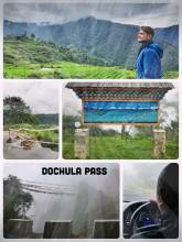 Dochula Pass - great panoramic view or a dangerous drive through think clouds