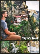 Tigers Nest - hanging monastery and temple complex built into the rocks