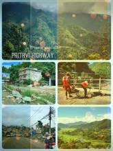 Prithvi Highway - very dangerous mountain road between Kathmandu and Pokhara