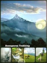 Annapurna - the world's 10 highest mountain located in the Himalayas in Nepal