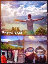 Phewa Lake - Nepal's second largest fresh water lake that is bordering Pokhara