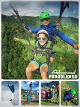 Advanced Paragliding - flying through the air in the Himalayas, overlooking Pokhara