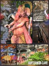 Gupteshwor Mahadev Cave - hidden underground Hindu temple next to a thundering waterfall