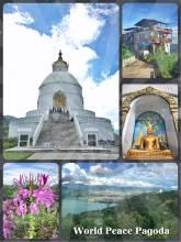 World Peace Pagoda - Shanti Stupa on top of Ananda Hill high above Pokhara