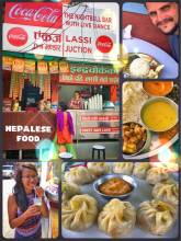 Nepalese Food - slurping fresh Lassi and eating Dal Bhat and homemade momos