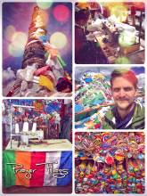 Prayer Flags - colorful banners with Buddhist blessings, mostly used in the Himalayas