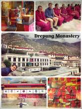 Drepung Monastery - one of Tibet's largest monasteries and historic home of the Dalai Lama