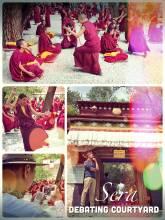 Sera Debating Court - debating can be very spectacular at Buddhist monasteries