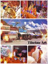 Tibetan Arts & Crafts - visiting small shops and workshops near the monasteries