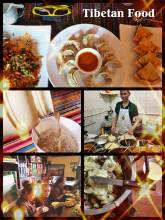 Tibetan Cuisine & Food - eating momo, dumplings, yak butter tea and a lot of meat