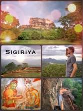 Sigiriya - ruins of an ancient royal capital city on a granite Lion's rock
