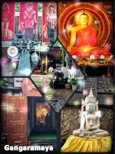 Gangaramaya Temple - important Buddhist temple in Colombo with a wild mix of styles