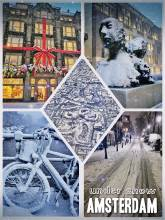 Amsterdam under snow - the beauty of a city full of cyclists covered in white powder