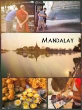 Mandalay - royal capital of Myanmar (Burma) and home to many Buddhist pagodas