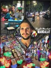 Night Market Mandalay - closing a street to sell cheap products and food at night in Myanmar