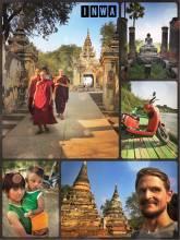 Inwa - ancient capital of the Burmese empire with monasteries and pagodas
