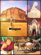 Mingun - an incomplete broken and a beautiful white stupa near Mandalay