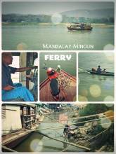 Mandalay - Mingun Ferry - one hour private river cruise across the Irrawaddy river on a private boat