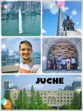 Juche Tower - a huge monument representing a big idea about equality and self-reliance